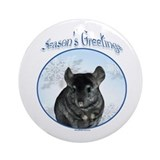 Chinchilla Season's Ornament (Round)