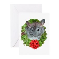 Chinchilla Wreath Greeting Cards (Pk of 10)
