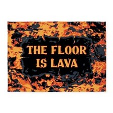 The Floor Is Lava 5'x7'Area Rug
