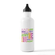 Best Aunt Design Gift Water Bottle