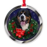 Greater Swiss Mtn Dog Round Ornament