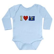 I Love Oregon Long Sleeve Infant Bodysuit