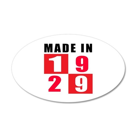 Made In 1929 35x21 Oval Wall Decal