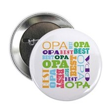 "Best Opa Gift 2.25"" Button (10 pack)"