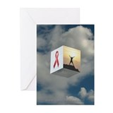 Red Ribbon Greeting Cards (Pack of 6)
