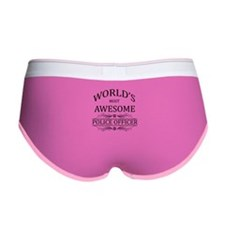 World's Most Awesome Police Officer Women's Boy Br