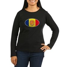 Andorran Oval Flag T-Shirt