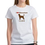 I Love Chocolate Labs Cream or Grey T-Shirt