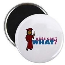 Girl Graduation in Red Magnet