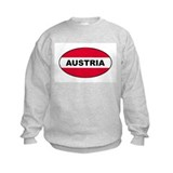 Austrian Oval Flag on Sweatshirt