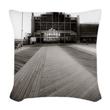 Asbury Park Boardwalk Woven Throw Pillow