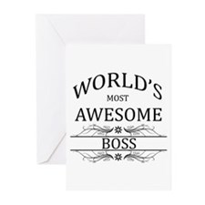 World's Most Awesome Boss Greeting Cards (Pk of 10
