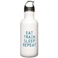 Eat Train Sleep Repeat Water Bottle