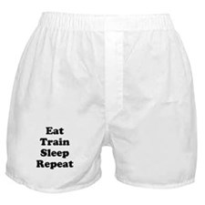 Eat Train Sleep Repeat Boxer Shorts