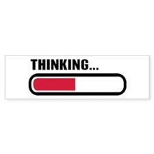Thinking loading Car Sticker