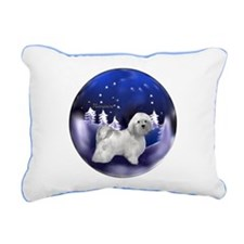 Havanese Christmas Rectangular Canvas Pillow