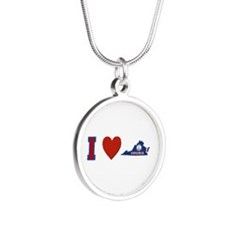 I Love Virginia Silver Round Necklace