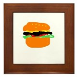 burger Framed Tile