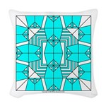 Cyan Owls Design Woven Throw Pillow