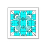 Cyan Owls Design Square Sticker 3