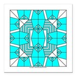Cyan Owls Design Square Car Magnet 3
