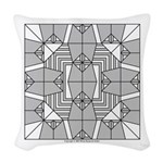 Gray Owls Design Woven Throw Pillow