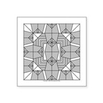 Gray Owls Design Square Sticker 3