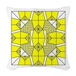 Yellow Owls Design Woven Throw Pillow