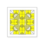 Yellow Owls Design Square Sticker 3