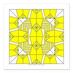 Yellow Owls Design Square Car Magnet 3