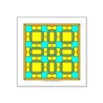 Dutch Gold And Yellow Design Square Sticker 3