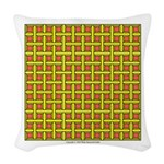 Yellow Latticework Woven Throw Pillow