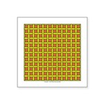 Yellow Latticework Square Sticker 3