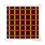 Orange And Yellow Latticework Woven Throw Pillow