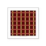 Orange And Yellow Latticework Square Sticker 3