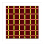 Orange And Yellow Latticework Square Car Magnet 3
