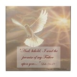 &quot;Our Fathers Promise&quot; Fine Art Tile Coaster