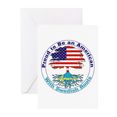American-Swedish Roots Greeting Cards (Package of
