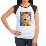 Krazy Kitten  Women's Cap Sleeve T-Shirt
