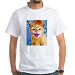 Krazy Kitten White T-Shirt
