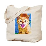Krazy Kitten  Tote Bag