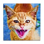 Krazy Kitten  Tile Coaster
