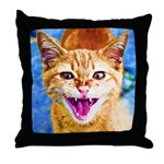 Krazy Kitten  Throw Pillow