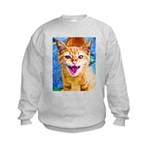 Krazy Kitten  Kids Sweatshirt