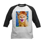 Krazy Kitten  Kids Baseball Jersey