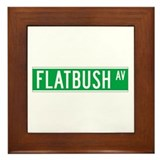 Flatbush Ave., New York - USA Framed Tile