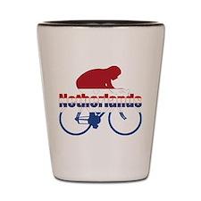 Netherlands Cycling Shot Glass