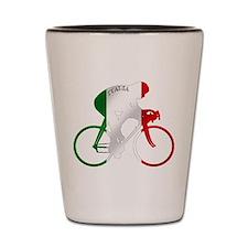 Italian Cycling Shot Glass