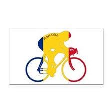 Romania Cycling Rectangle Car Magnet