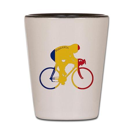 Romania Cycling Shot Glass